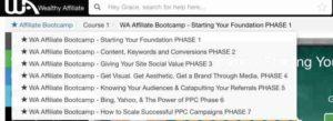 Affiliate Bootcamp Course Outline