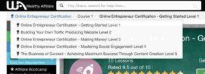 Online Entrepreneur Certification Course Outline