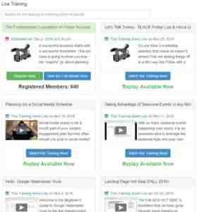 Live Training at Wealthy Affiliate