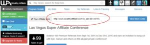 Wealthy Affiliate: Affiliate Links