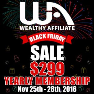 Black Friday 2016: Wealthy Affiliate