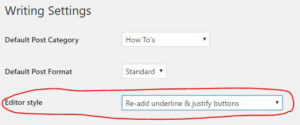 Re-Add Text Underline and Justify Plugin