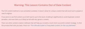 Affilorama's Warning About Out of Date Content