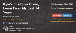 Kyle's Live Video Training