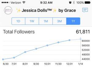 Instagram Account for Jessica Dolls