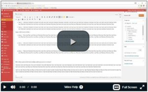 Link to Video to show how to add spacing to bullet points and numbered lists in WordPress