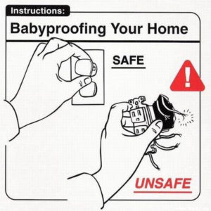 """""""Safe Baby Handling Tips"""", by Wry Baby founders David Sopp and Kelly Sopp"""