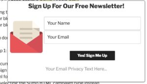 Build Email List with Commission Sumo