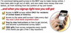 Take Surveys for Cash Selling Points