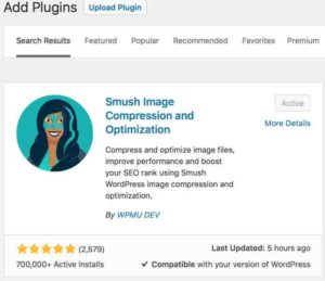 WP Smush / Smush Image Compression and Optimization WordPress Plugin