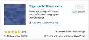 Regenerate Thumbnails WordPress Plugin
