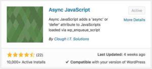 Async JavaScript WordPress Plugin