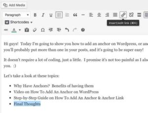 Adding Anchor Link To Text Final Thoughts