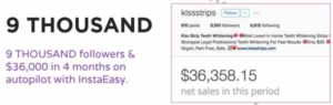 InstaEasy $36,000 in 4 months