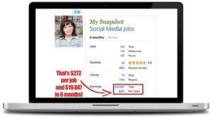 Paid Social Media Jobs 6 Months Earnings