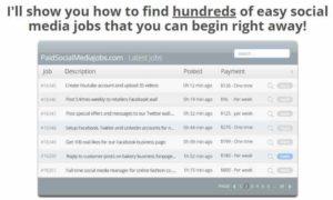 Paid Social Media Jobs Listings