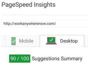Site Speed Desktop Score