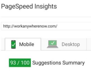 Site Speed Mobile Score
