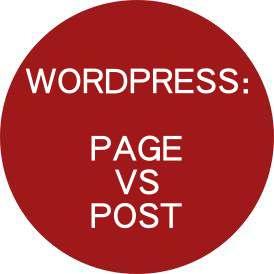 WordPress Page Vs Post