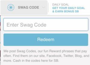 swagbucks swagcode
