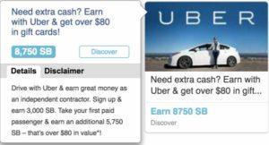swagbucks uber offer