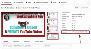 Direct Link to Your Video
