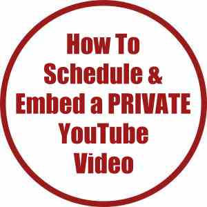 How To Schedule & Embed A YouTube Video