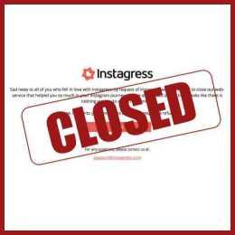 Instagram shuts down Instagress closed