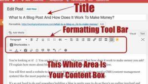 Post Edit Screen Elements WordPress