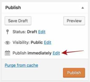Scheduling Post - Click on Edit