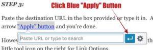 WordPress - Blue Apply Button