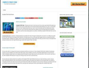 Complete Profit Code web page