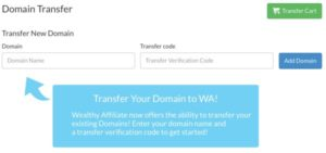 Site Domains Transfer a domain