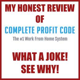 my honest review of Complete Profit Code what a joke don't buy