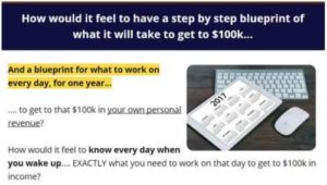 100K In 1 Year Blueprint Sales page