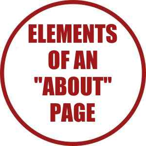 Elements of an About page