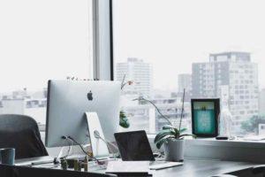 Mac desktop by window office
