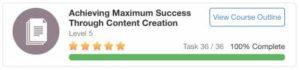 Online Entrepreneur Certification Level 5 Achieving Maximum Success Through Content Creation
