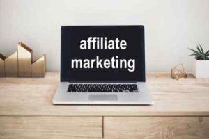 Affiliate Marketing on laptop