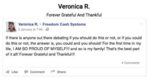Freedom Cash System Fake Testimonial