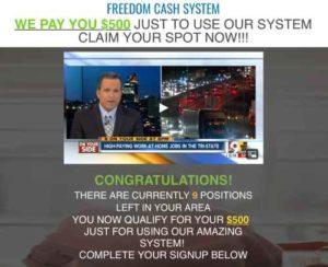 Freedom Cash System fake news