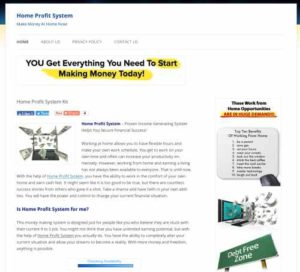 Home Profit System Home Page