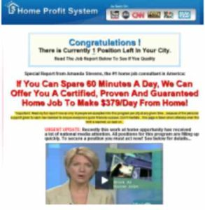 Home Profit System Old Home Page