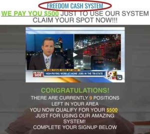 Instant Income Sytem Same Webpage As Freedom Cash