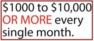 My Secret Sites $1000-$10000 a month