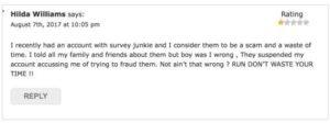 Survey Junkie Complaint 1