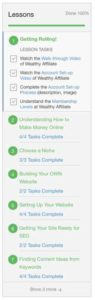 Wealthy Affiliate Course Tracker