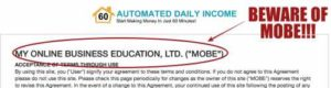 Automated Daily Income is actually MOBE