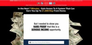 Home Earning System sales page