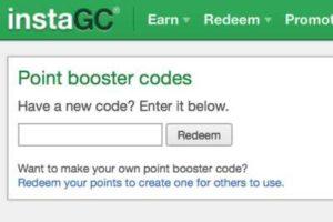 InstaGC Point Booster Codes